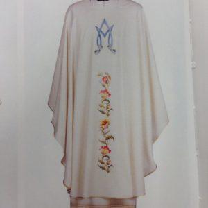 casula mariana stolone ricco 100%pura lana bianca