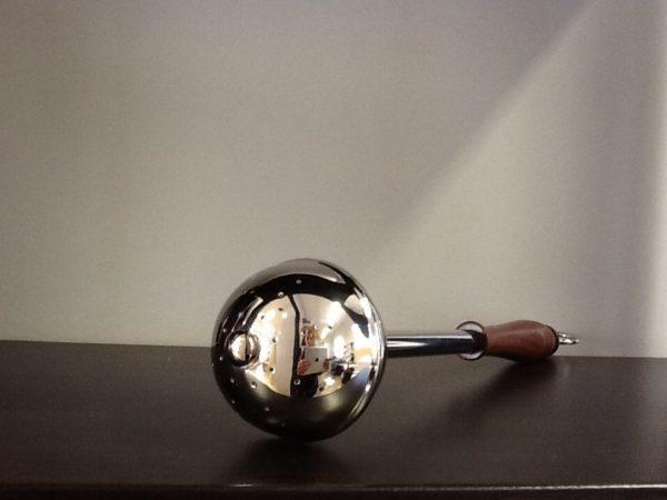 Asperges in metallo lucido con manico in legno cm.33