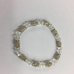 braccialetto elastico con cristalli