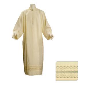 camice con piegoni terital lana tramatura sangallo cm.8