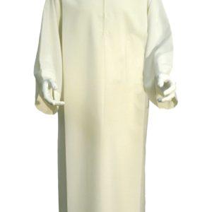 camice con piegoni terital/lana