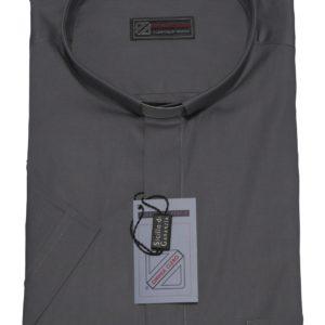camicia clergiman 100%cotone fil a fil m/l antracite