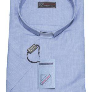 camicia clergiman 100%cotone fil a fil m/l o m/m celeste