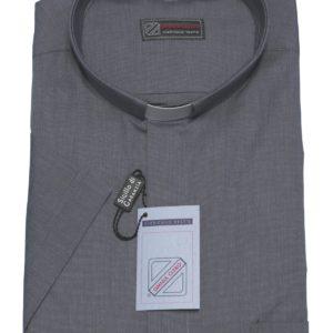 camicia clergiman 100%cotone fil a fil m/l o m/m grigio medio