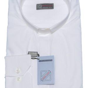 camicia clergiman bianca in 100%cotone
