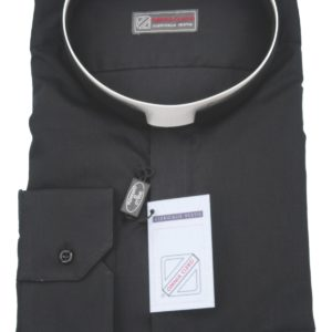 camicia clergiman collo romano 100%cotone