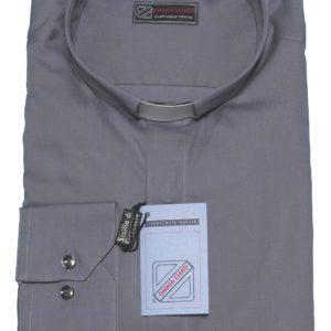 camicia clergiman terital cotone manica lunga o media grigio