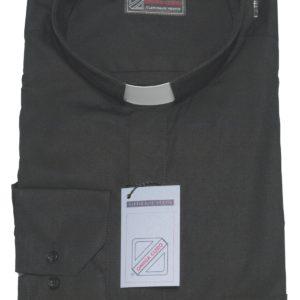 camicia clergiman terital cotone manica lunga o media  nero