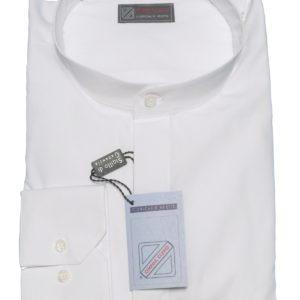 camicia talare 100% cotone bianca fil a fil