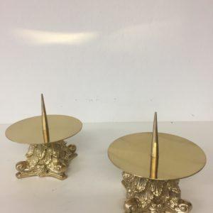 candeliere ottone con puntale 11x10