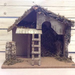 Capanna in legno della Val Gardena fatta a mano cm.41.5x35