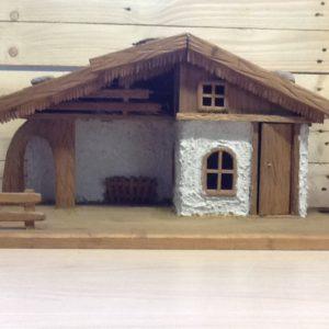 Capanna in legno della Val Gardena fatta a mano cm.61x33x32h