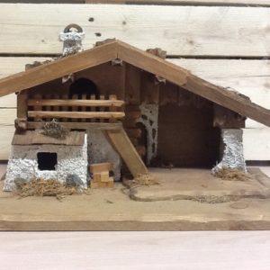 Capanna in legno della Val Gardena  fatta a mano tinte naturali cm.40x21