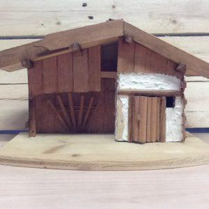 Capanna in legno fatta a mano cm.37x20x22