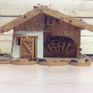 Capanna in legno fatta a mano tinta chiara cm42x22x20h