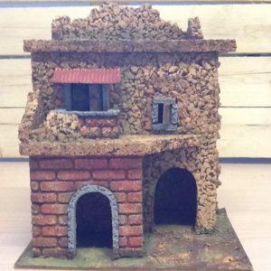 Casa in sughero due piani cm.20x15x24h