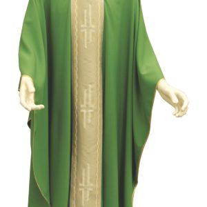 casula verde stolone croci poliestere