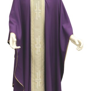 casula viola stolone croci poliestere