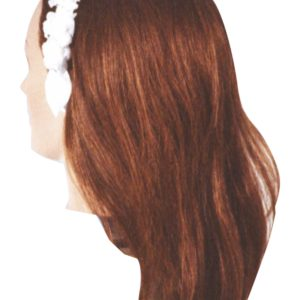 cerchietto rosellina bianca