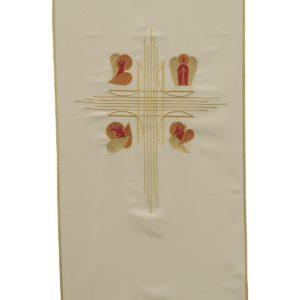 coprileggio bianco quattro evangelisti 100%poliestere