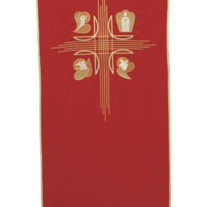 coprileggio rosso quattro evangelisti 100%poliestere