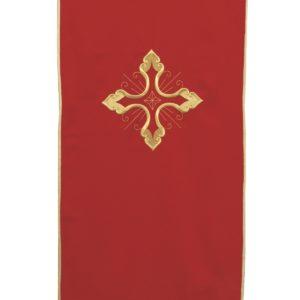 coprileggio rosso ricamo croce oro 100%poliestere