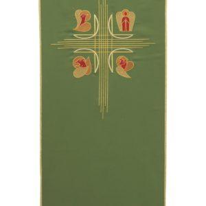 coprileggio verde quattro evangelisti 100%poliestere