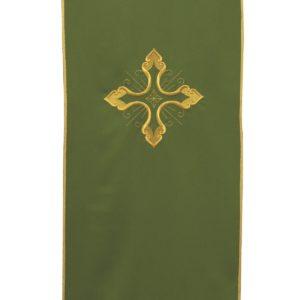 coprileggio verde ricamo croce oro 100%poliestere