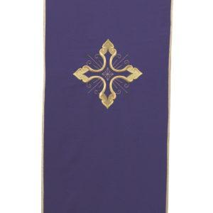 coprileggio viola ricamo croce oro 100%poliestere