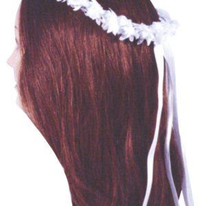 cornocina/cerchietti per capelli roselline bianche