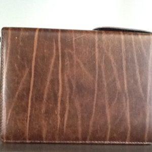 Custodia Bibbia di Gerusalemme in eco pelle colore marrone cm.19,7x13x6