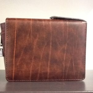 Custodia Liturgia Della ore 4 volumi cm.18x11x5 colore marrone Eco pelle
