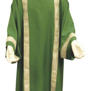 dalmatica verde collo coreana bordo lavorato 100%poliestere