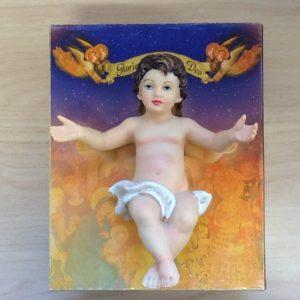 Gesù bambino in resina cm.17.5