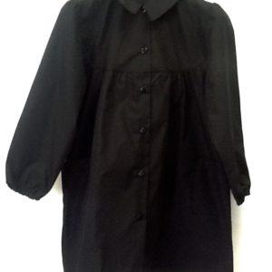 Grembiule scuola femmina lungo.ottima fattura italiana misto cotone di colore nero. Taglia 65, prima elementare
