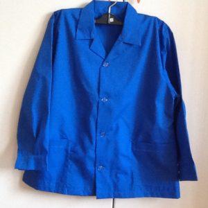 Grembiule scuola maschio,misto cotone di ottima fattura italiana di colore blu,prima elementare taglia 65