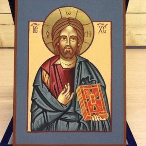 """Icona rumena""""Cristo Salvatore""""realizzata a Mano su legno pezzo numerato cm.10x14h"""