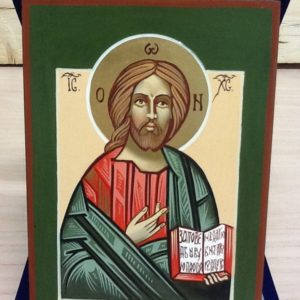"""Icona rumena""""Cristo,Maestro e Giudice""""realizzata a Mano pezzo numerato cm.10x14h"""