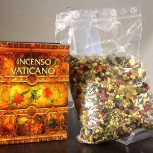 """Incenso """"Vaticano""""  in grani di piante subtropicali con olii 100% naturali  conf.100  gr."""