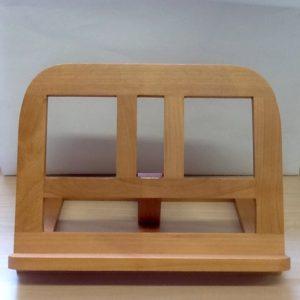 Leggio da tavolo in legno naturale con 4 diverse inclinature  cm.33x25x6