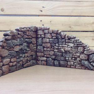 Muro angolare sasso in resina rifinito a mano primo lato sinistra cm.35x3.5x21,5h sec.lato 39x3.5x21.5h