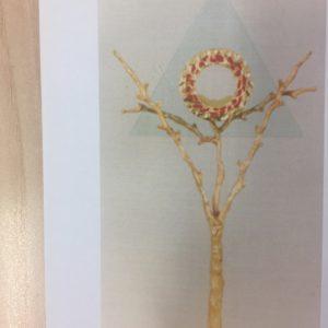 ostensorio albero raggiera cristallo dorato 70x32
