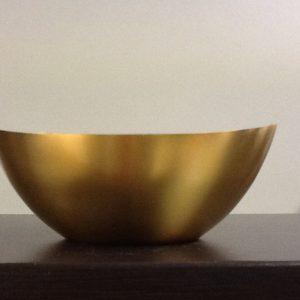 Patena in metallo dorato h.cm.4 diametro cm.11