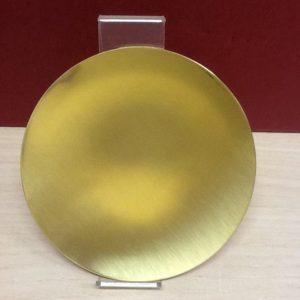 Patena spagnola in ottone dorato diametro cm.14,5