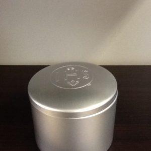 Porta particole in alluminio diametro cm.9.5 h.cm.7