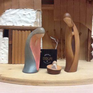 """Presepe """"Leonardo"""" natività Dolfi in legno della Val Gardena dipinto a mano cm.14"""