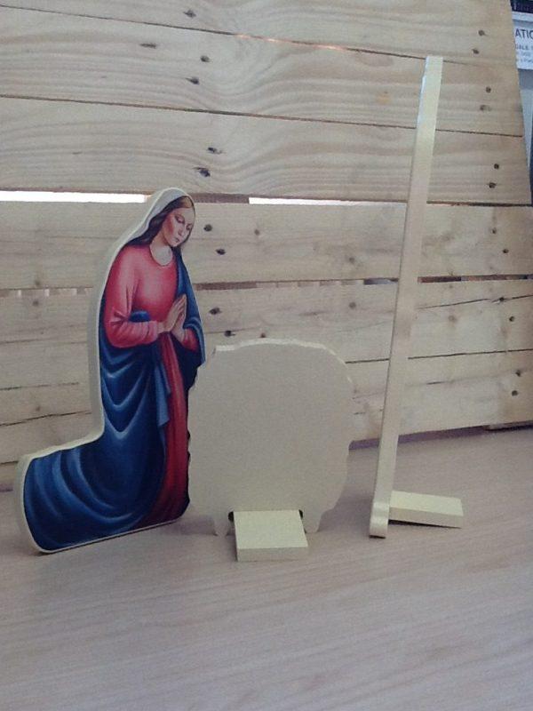 """Presepe """"Sacra Famiglia"""" in resina da tavolo San Giuseppe cm.h 40"""