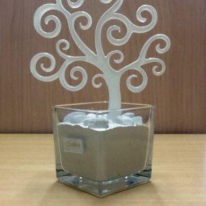"""profumatore """"Albero Della vita""""  artigianato veneziano  realizzato in vetro bianco. Base cm.10x10 Albero larg.c m17,5 complete h.25"""
