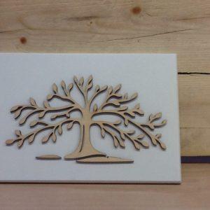 Quadro in legno bianco 13x18.5 albero della vita