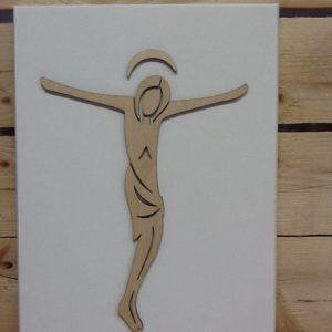 """Quadro in legno """"Cristo"""" cm.21x30"""